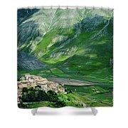 Castelluccio Shower Curtain by Brian Jannsen