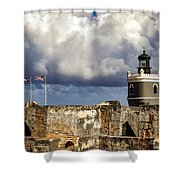 Castillo San Felipe Del Morro Lighthouse San Juan, Puerto Rico  Shower Curtain