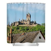 Castle At Cochem In Germany Shower Curtain
