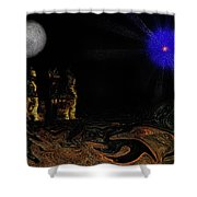 Castle In The Night Shower Curtain
