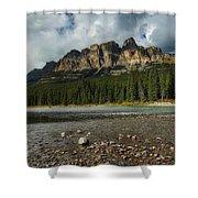 Castle Mountain Shower Curtain