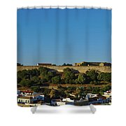 Castle Of Castro Marim From The Hill Shower Curtain