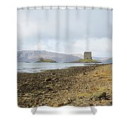 castle Stalker in late autumn Shower Curtain
