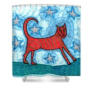 Cat By Starlight Shower Curtain