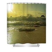 Catching The Spirit Sun Coastal Sunrise Shower Curtain