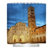 Cathedral Lucca Italy Shower Curtain