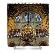 Cathedral Notre Dame Chandelier Shower Curtain by Brian Jannsen