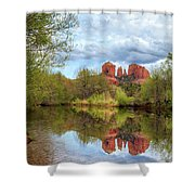 Cathedral Rock Reflection Shower Curtain