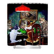 Cats Are Wild Poker Shower Curtain