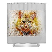 Cat's Eye Shower Curtain