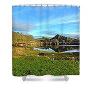 Cawfield Quarry And Hadrians Wall In Northumberland Shower Curtain