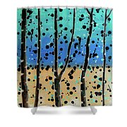Celebration - Abstract Landscape  Shower Curtain