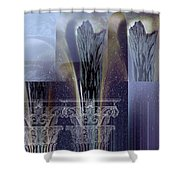Celestial Vase Abstract Shower Curtain by Robert G Kernodle