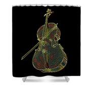 Cello Music Instrument Professional Musician Designed Shower Curtain