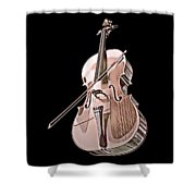 Cello String Music Instrument Musician Color Designed Shower Curtain
