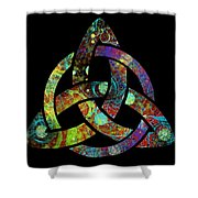 Celtic Triquetra Or Trinity Knot Symbol 3 Shower Curtain