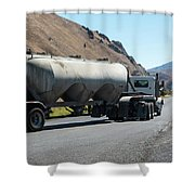 Cement Truck Turning Shower Curtain