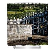 Cemetery Vaults Shower Curtain by Tom Singleton