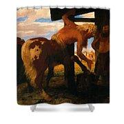 Centaur At The Village Blacksmith Shop 1888 Shower Curtain
