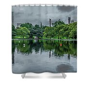 Central Park Reflections Shower Curtain