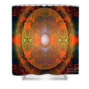 Central Sun Shower Curtain