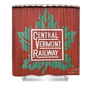 Central Vermont Railway Shower Curtain