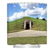 Indian Mound At Ocmulgee National Monument 1 Shower Curtain