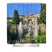 Fountain Of Neptune Shower Curtain