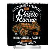 Championship Speed Race Classic Racing Shower Curtain