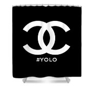 Chanel You Only Live Once Shower Curtain