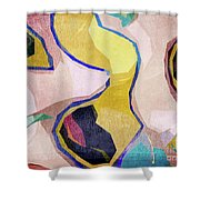 Chaotic Abstract Shapes Shower Curtain