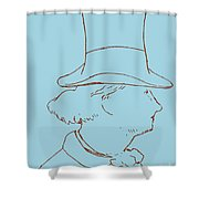 Charles Baudelaire By Edouard Manet Shower Curtain