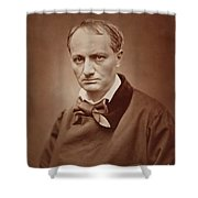 Charles Baudelaire, French Poet, Portrait Photograph  Shower Curtain