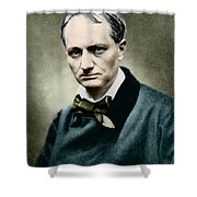 Charles Baudelaire, French Writer, Photo Shower Curtain