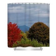Charlotte Vermont View Of Camels Hump Shower Curtain