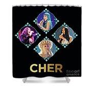 Cher - Blue Diamonds Shower Curtain