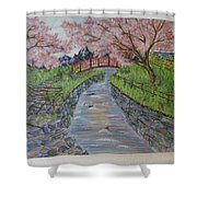 Cherry River Shower Curtain