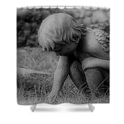 Cherub In The Grass Shower Curtain