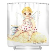 Cherub In The Sand Shower Curtain