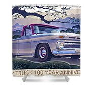 Chevy Truck Centennial 1964 Shortbed Custom Half Ton Shower Curtain