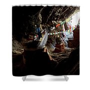 Chhungsi Cave From The Inside, Mustang Shower Curtain