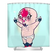 Chibi Allin Shower Curtain