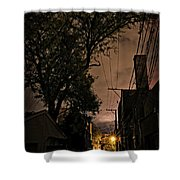 Chicago Alley At Night Shower Curtain