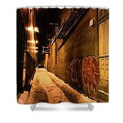 Chicago Alleyway At Night Shower Curtain