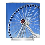 Chicago Centennial Ferris Wheel 2 Shower Curtain