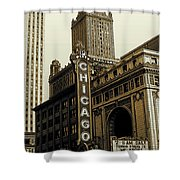 Chicago Cinema Theater - Vintage Photo Art Shower Curtain