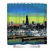 Chicago Marina Shower Curtain
