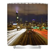 Chicago Skyline South Side View Shower Curtain
