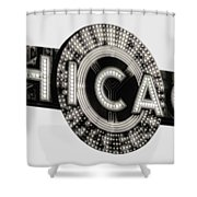 Chicago Theater Marquee - T-shirt Shower Curtain