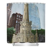 Chicago Water Tower 1a Shower Curtain